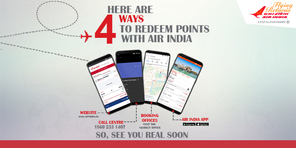 Redeem points with Airindia