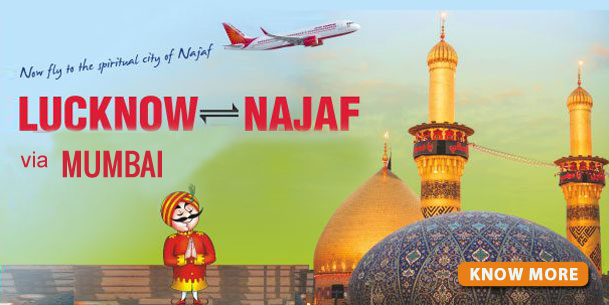 Lucknow to Najaf