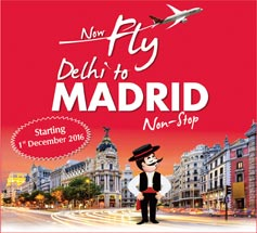 Now Fly Delhi to Madrid