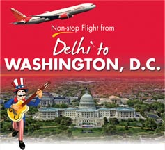 Delhi to Washington